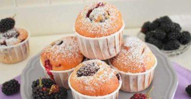 Muffins aux mûres et au yaourt