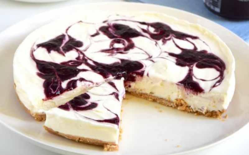 Cheesecake à la confiture sans cuisson