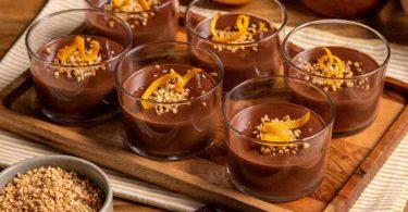 Crème chocolat et orange aux amandes croquantes, recette simple et rapide